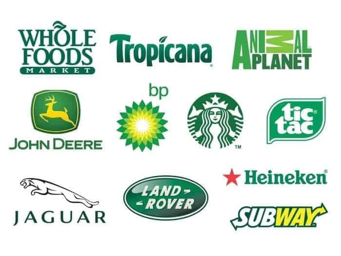 signification logo couleur vert