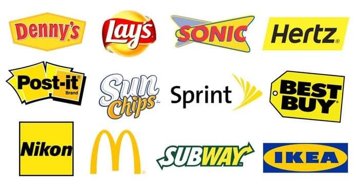 signification logo couleur jaune
