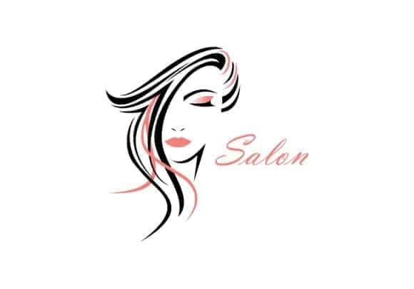 logo coiffeur cheveux beauté