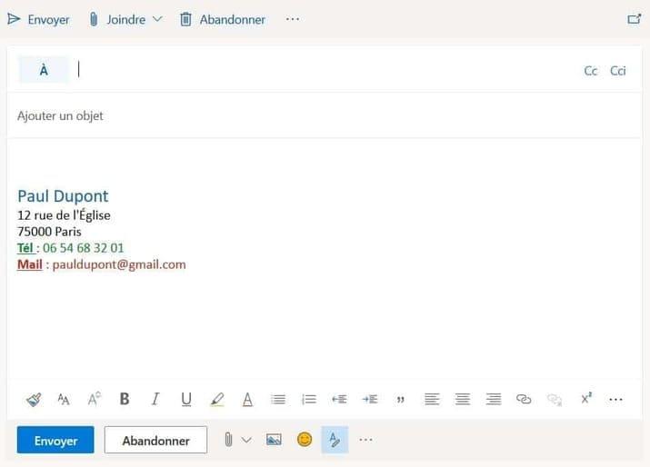 creation signature gmail
