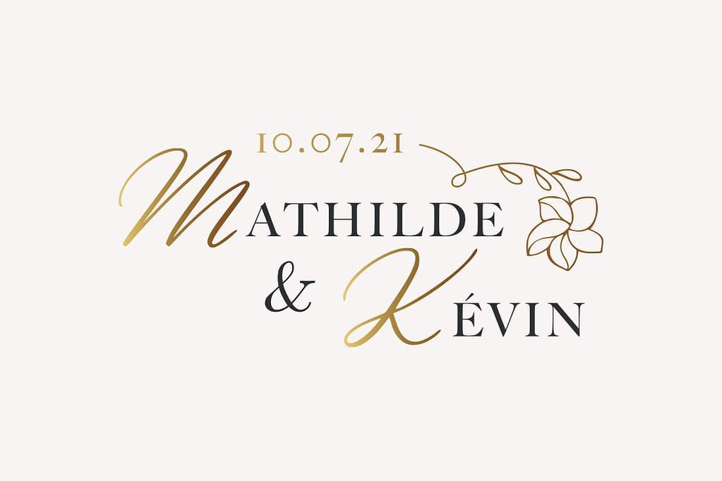 logo lettre mariage