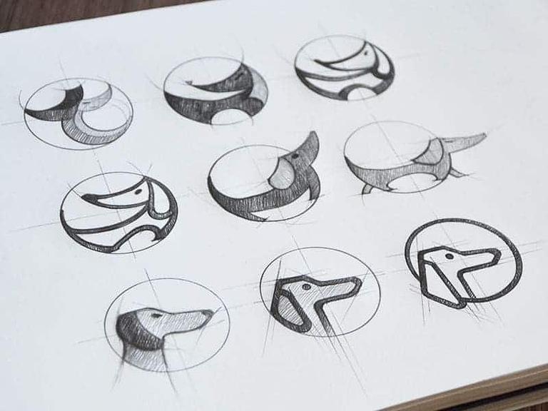processus creation logo