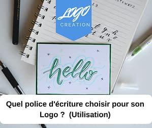 police ecriture logo