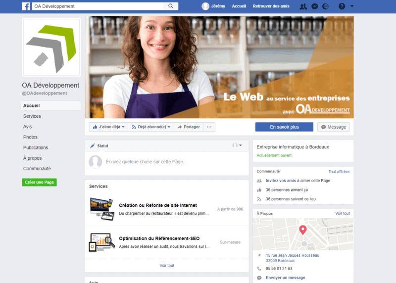 page entreprise reseaux sociaux