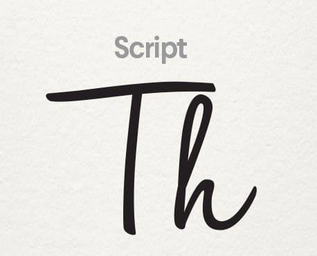 typographie logo script