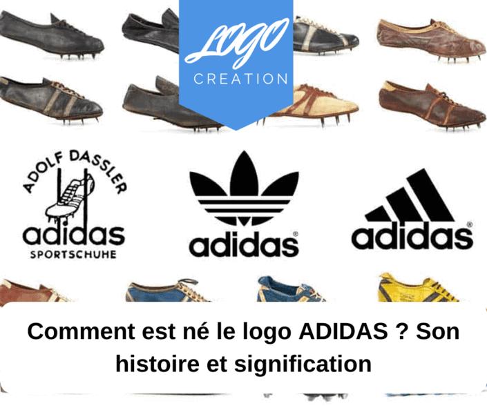histoire signification logo adidas