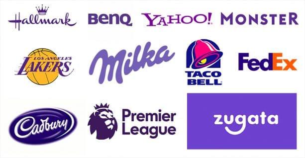 signification logo couleur violet