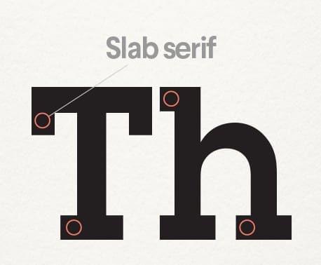 typographie logo slab serif